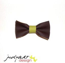 Csokornyakkendő - barna-zöld