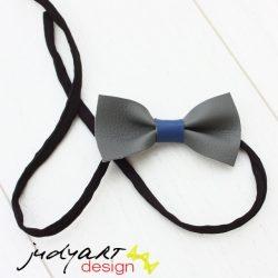 Csokornyakkendő - szürke-kék