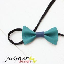 Csokornyakkendő - türkiz-kék