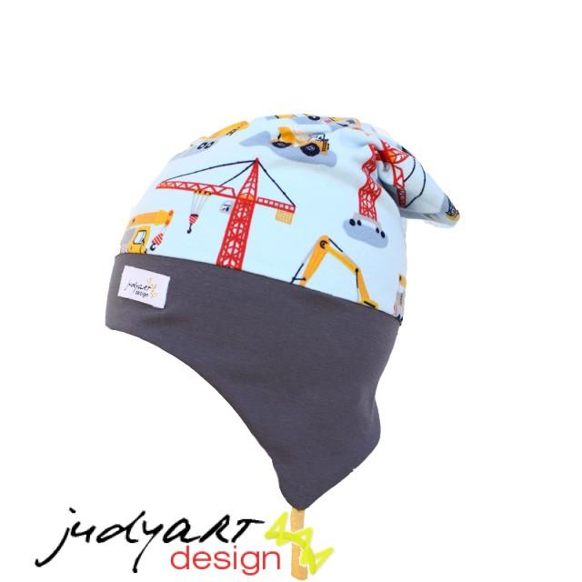 e3906a47c1 Tavaszi/őszi füles gyerek sapka - zöld autós - Judyart Design termékek