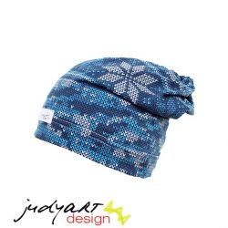 Judyartdesign téli bélelt csövi fazonú sapka - kék láma