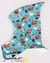 Téli meleg űrhajós sapka - vöröspanda F
