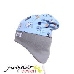 Judyartdesign téli bélelt füles fazonú sapka - lufis kék