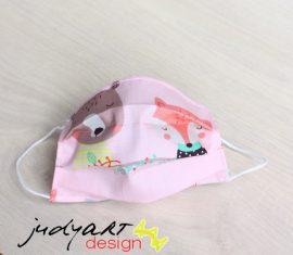 Judyartdesign FELNŐTT textil szájmaszk - állatok