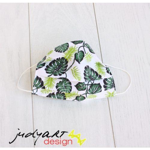Judyartdesign FELNŐTT textil szájmaszk - leveles