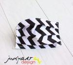 Judyartdesign FELNŐTT textil szájmaszk - cikk-cakk