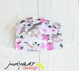 Judyartdesign GYEREK textil szájmaszk - fehér csillagos