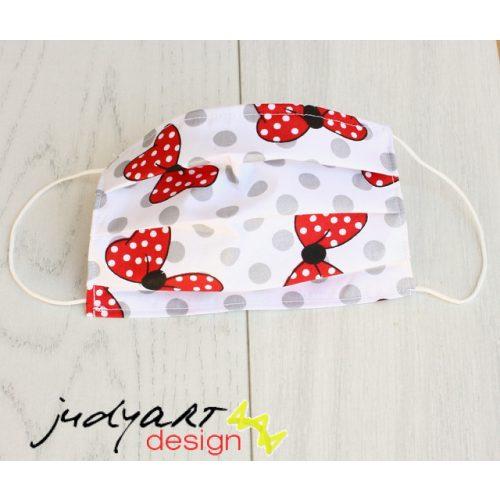 Judyartdesign FELNŐTT textil szájmaszk - masnis