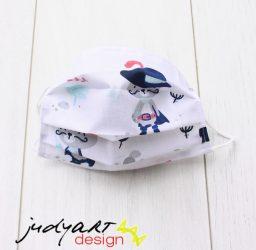 Judyartdesign GYEREK textil szájmaszk - csizmáskandúr