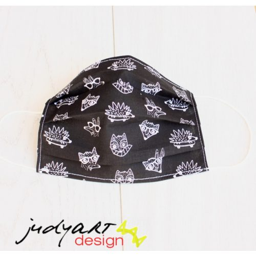 Judyartdesign FELNŐTT textil szájmaszk - deszkás süni