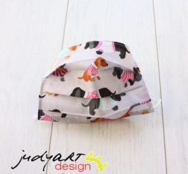 Judyartdesign FELNŐTT textil szájmaszk - tacsi szürke