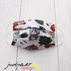 Judyartdesign GYEREK textil szájmaszk - erdő lakói