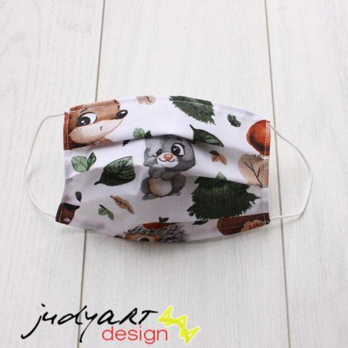 Judyartdesign GYEREK textil szájmaszk - őszi erdő lakói
