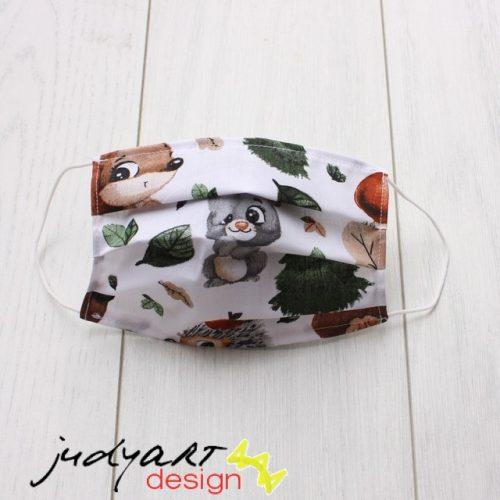 Judyartdesign FELNŐTT textil szájmaszk - őszi erdő lakói