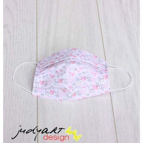 Judyartdesign GYEREK textil szájmaszk - mini szivecske