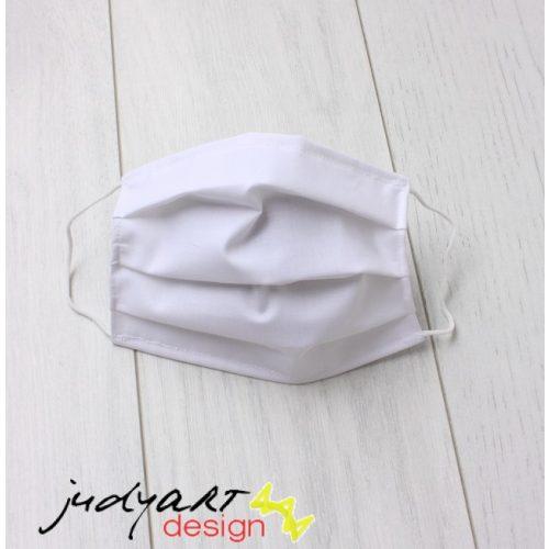 Judyartdesign FELNŐTT kétrétegű textil szájmaszk - fehér