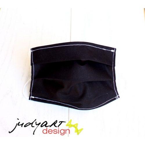Judyartdesign FELNŐTT kétrétegű textil szájmaszk - fekete