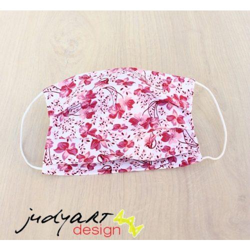 Judyartdesign FELNŐTT kétrétegű textil szájmaszk - floral