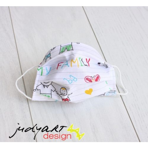 Judyartdesign GYEREK textil szájmaszk - suli
