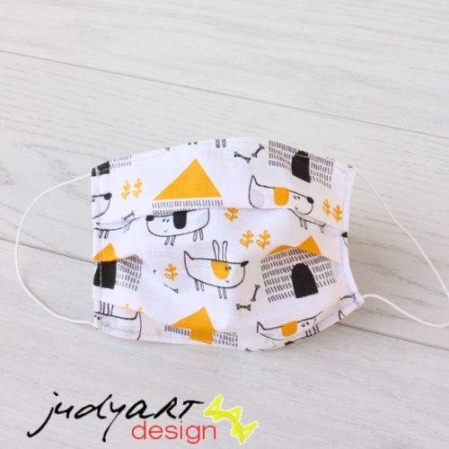 Judyartdesign GYEREK textil szájmaszk - házőrző