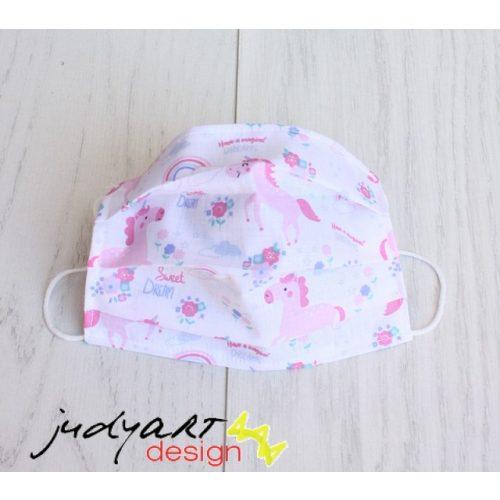 Judyartdesign GYEREK textil szájmaszk - unikornis