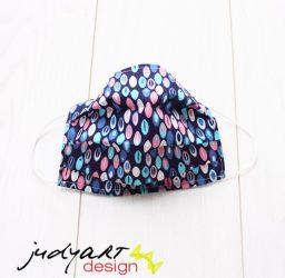 Judyartdesign FELNŐTT kétrétegű textil szájmaszk - jégeső