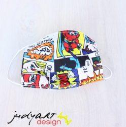 Judyartdesign FELNŐTT textil szájmaszk - színes képregényes