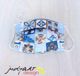 Judyartdesign FELNŐTT textil szájmaszk - kávé