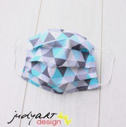 Judyartdesign GYEREK textil szájmaszk - kék háromszög