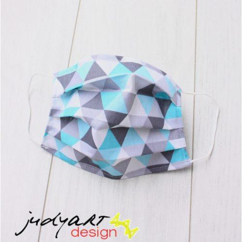 Judyartdesign GYEREK textil szájmaszk - türkiz háromszög