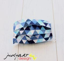 Judyartdesign FELNŐTT textil szájmaszk - kék háromszög