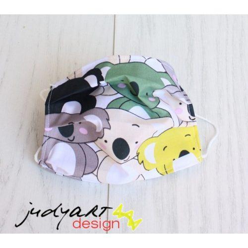Judyartdesign FELNŐTT textil szájmaszk - koala