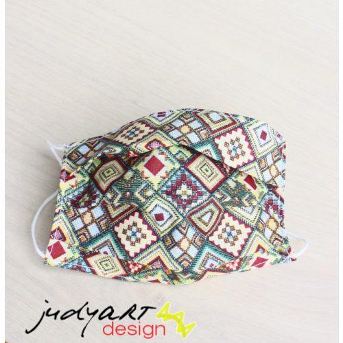 Judyartdesign FELNŐTT textil szájmaszk - kockás
