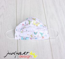 Judyartdesign GYEREK kétrétegű textil szájmaszk - láma