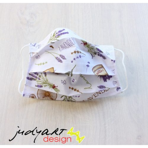 Judyartdesign GYEREK textil szájmaszk - levendula
