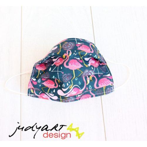 Judyartdesign FELNŐTT textil szájmaszk - flamingó