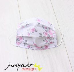 Judyartdesign FELNŐTT textil szájmaszk - rózsás