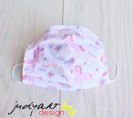 Judyartdesign FELNŐTT textil szájmaszk - unikornis