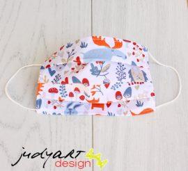 Judyartdesign GYEREK textil szájmaszk - meggy