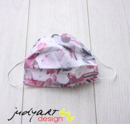 Judyartdesign FELNŐTT textil szájmaszk - meggy