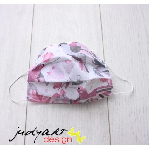 Judyartdesign FELNŐTT textil szájmaszk - kolibri