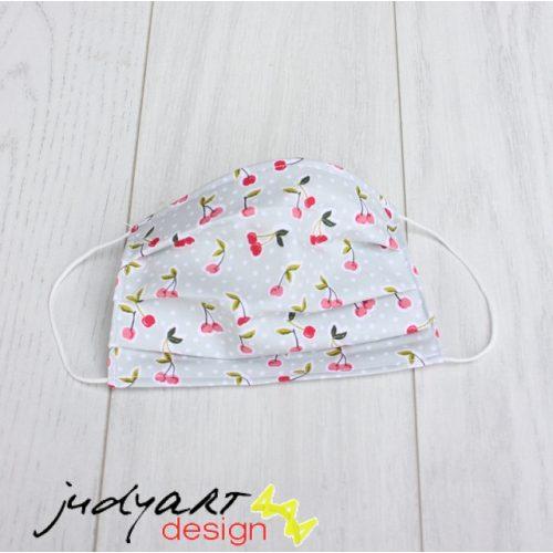 Judyartdesign FELNŐTT kétrétegű textil szájmaszk - meggy