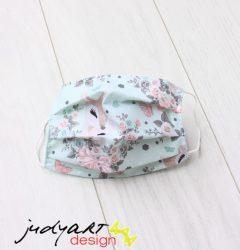 Judyartdesign FELNŐTT textil szájmaszk - menta rózsafüzér