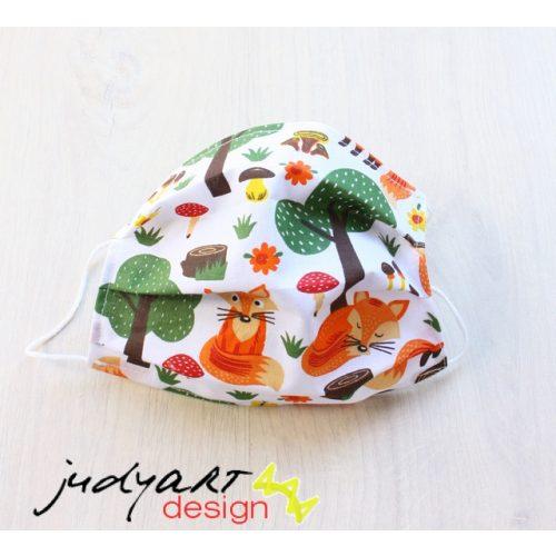 Judyartdesign FELNŐTT textil szájmaszk - rókás