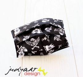 Judyartdesign FELNŐTT textil szájmaszk - pöttyös színes
