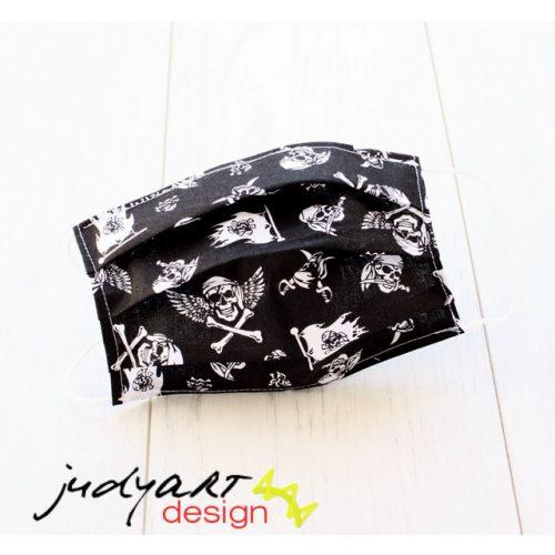 Judyartdesign FELNŐTT textil szájmaszk - koponyás