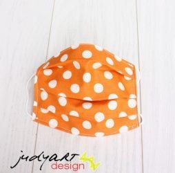 Judyartdesign GYEREK textil szájmaszk - pöttyös tök