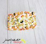 Judyartdesign FELNŐTT kétrétegű textil szájmaszk - smile