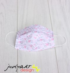 Judyartdesign FELNŐTT textil szájmaszk - mini szivecske
