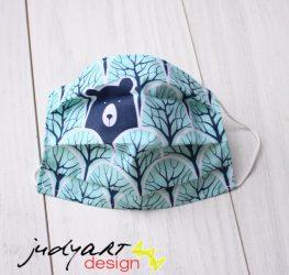 Judyartdesign FELNŐTT textil szájmaszk - kék erdő